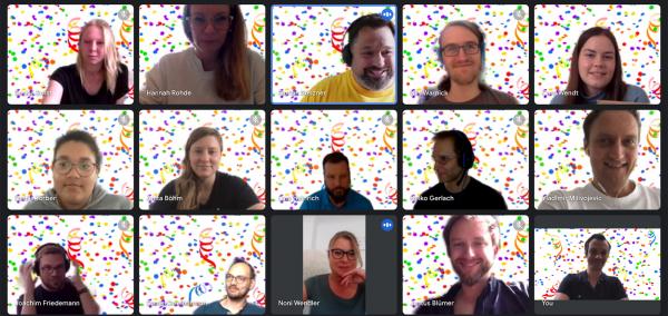 Screenshot Team-Meeting Google Meet