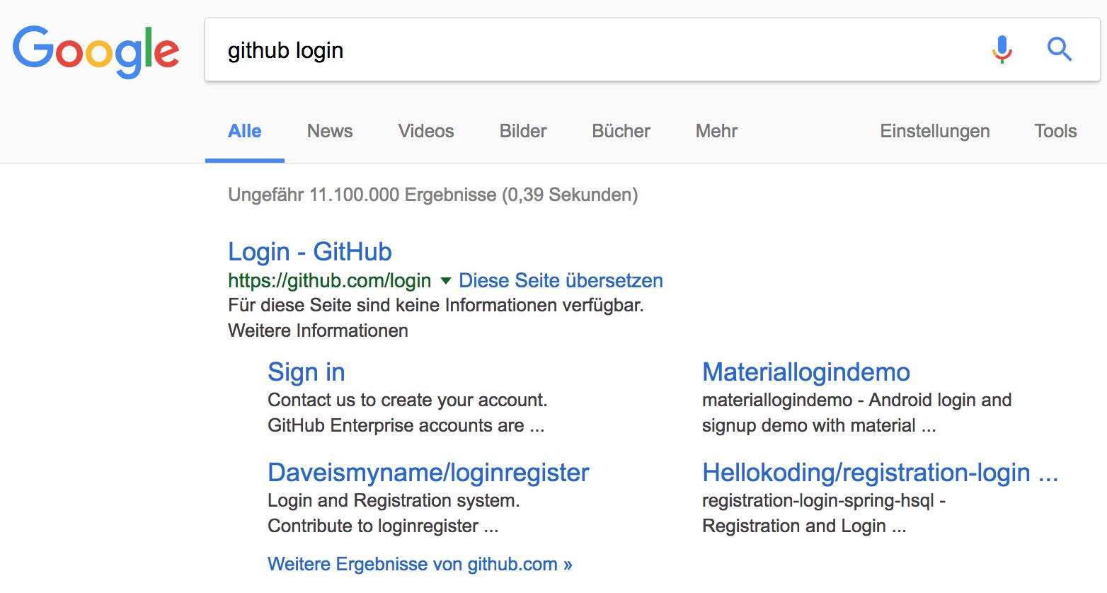 Google zeigt als Suchergebnis keine valide Description an